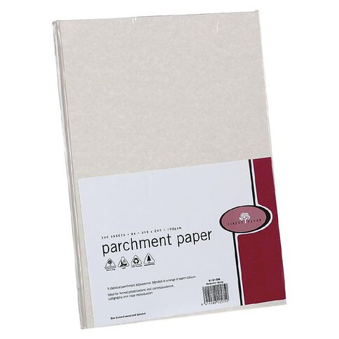Parchment Paper 100gsm 100 Pack Nebular Grey A4