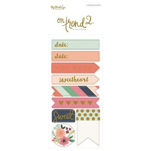 Mme On Trend 2 Alpha Word Sticker Set Multi-Coloured