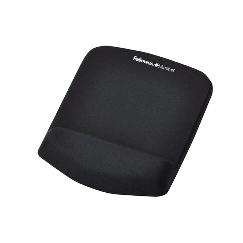 Fellowes Plush Touch Mouse Pad With Wrist Support Black