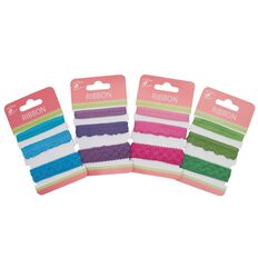 Little Birdie Lace Ribbon Blue Pink Green and Purple 1.5m Multi-Coloured