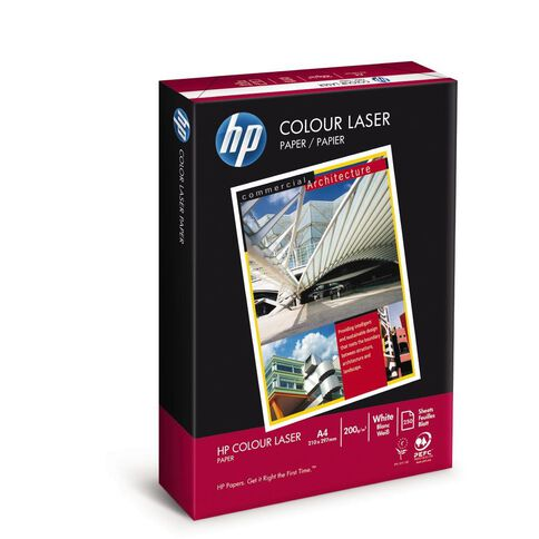 HP Colour Laser 200gsm 250 Sheet Pack White A4