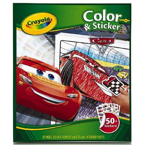 Cars Crayola Colour & Sticker Pad