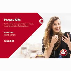 Vodafone Prepay Triple SIM Pack Red