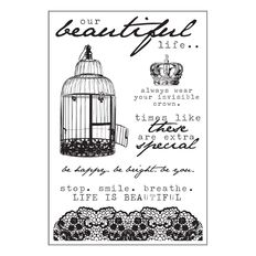 Kaisercraft Clear Stamps 155 x 105mm Oh So Lovely