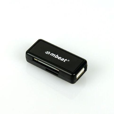 mbeat Micro USB Card Reader & USB-Android Smartphone/Tablet Black