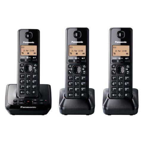 Panasonic Kx-Tg2723Nzb Triple Cordless Phone With Answerphone Black