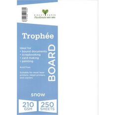 Trophee Card 210gsm 250 Pack Snow White A4