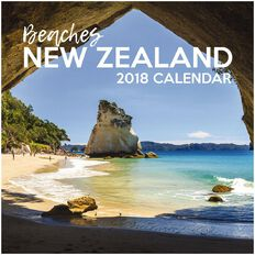 Calendar 2018 NZ Beaches 290mm x 290mm