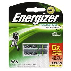 Energizer Rechargeable Battery NiMH AAA 2 Pack