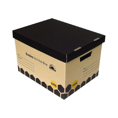 Marbig Archive Enviro Boxes 5 Pack Wrapped Brown