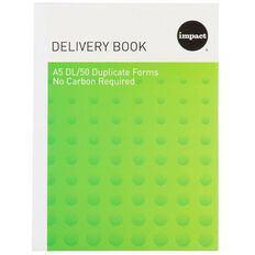 Impact Delivery Book A5 Duplicate Ncr 50 Forms Green