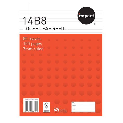 Impact Pad Refill 14B8 7mm Ruled 50 Leaf