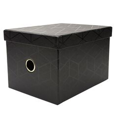 Uniti Nouveau Noir Storage Box Small Black