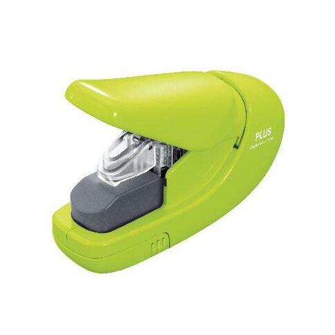 Plus Staple-Less Stapler Green