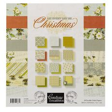 Couture Creations Let Everyday Be Christmas Paper Pad 12in x 12in