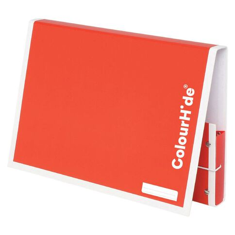 ColourHide Document Box Red A4