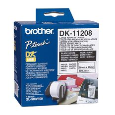 Brother Label Tape Dk-11208 Colour 38mm x 90mm White
