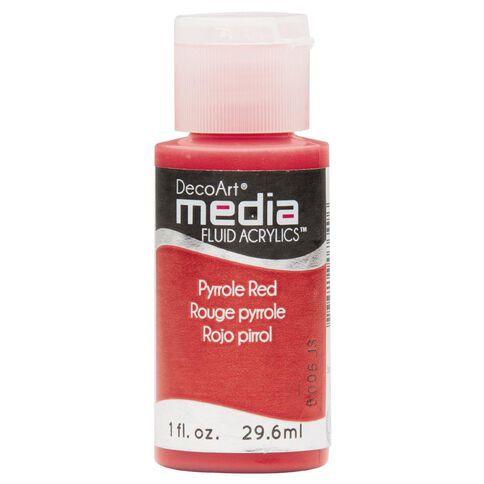 Deco Art Fluid Acrylic 30Ml Pyrrole Red