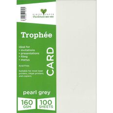 Trophee Card 160gsm 100 Pack Pearl Grey A4