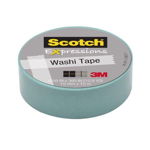 Scotch Washi Craft Tape 15mm x 10m Pastel Blue