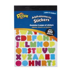 Projex Sticker Pad Alphabets and Numbers 6 Page 250 Piece