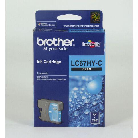 Brother Ink Cartridge LC67HY Cyan
