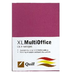 Quill Multioffice Envelopes C6 25 Pack Hot Pink