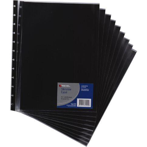 Eastlight Easel Refills A4 Landscape 10 Pack Black