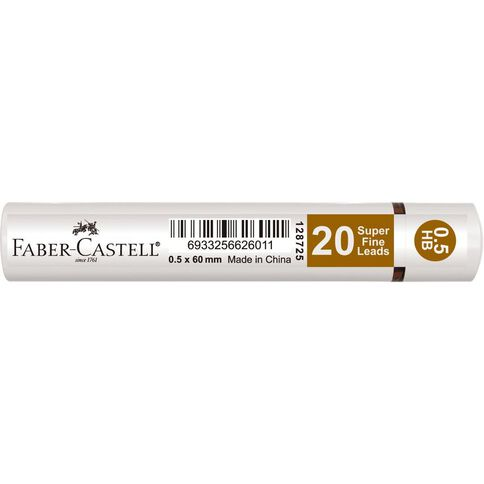 Faber-Castell Lead Refills Grip Tube 0.5 HB 20 Pack Pink