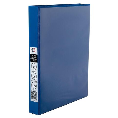 Marbig Ringbinder Overlay 26mm 4D Ring Blue A4