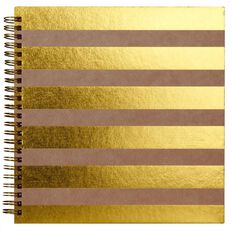 Rosie's Studio Album 8 x 8 Stripes Kraft/Gold