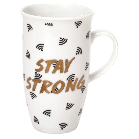 Banter Strong Large Mug White