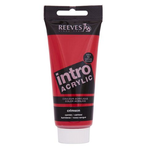 Reeves Intro Acrylic 100ml Crimson