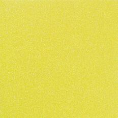 American Crafts Cardstock Glitter Medium 12 x 12 Neon Yellow