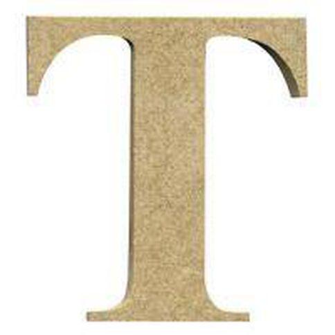 Sullivans Mdf Board Alphabet Letter 17cm T Brown