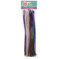 Educraft Pipe Cleaners Tinsel 30 Pieces