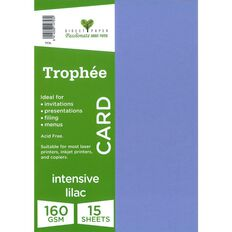 Trophee Card 160gsm 15 Pack Intensive Lilac Purple A4
