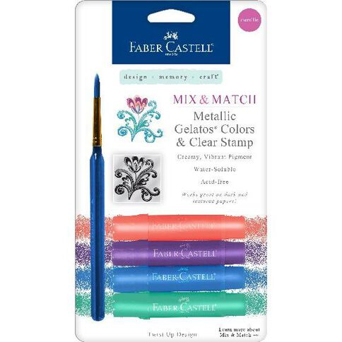 Faber Castell Mix And Match Gelatos Metallic Multi-Coloured