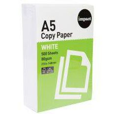 Impact A5 Copy Paper White 80Gsm 500 Pack White