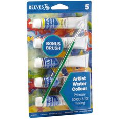 Reeves Watercolour Paint & Brush Set 5 Pack