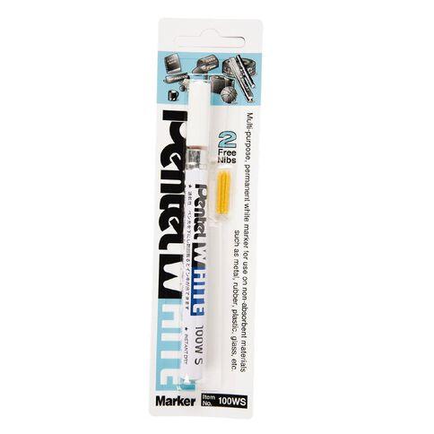 Pentel Marker 100 Bullet 2mm White