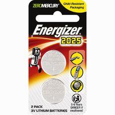 Energizer Lithium Coin ECR2025BP2 2 Pack