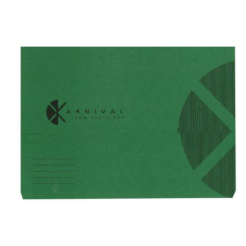 Eastlight Foolscap Document Wallet Karnival Green