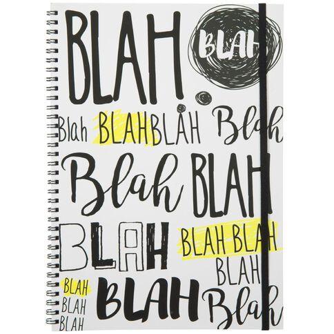 Banter Blah Spiral Notebook A4