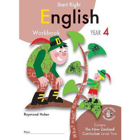 SR Year 4 English Workbook by Raymond Huber