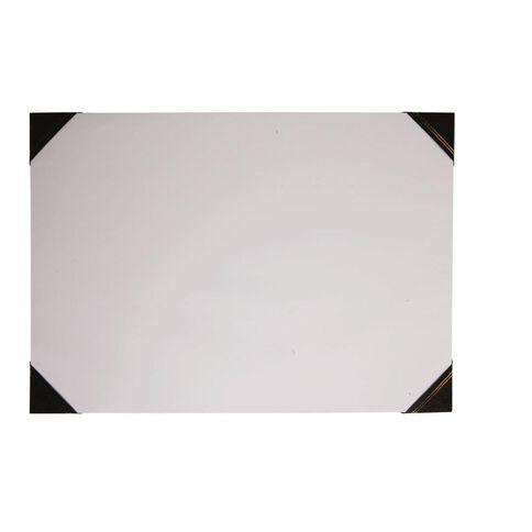 GBP Stationery Desk Pad Leathertone 4 Black Corners A2