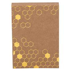 Uniti Bee Natural Kraft Jotter Brown A6