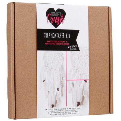 Craft Crush Dreamcatcher Kit White Doily/Silver Feathers 20cm x 75cm