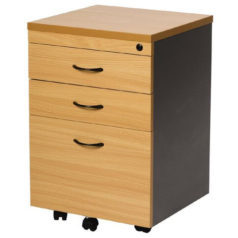 Firstline 3 Drawer Mobile Beech/Ironstone