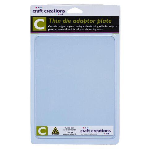 Craft Creations C Plate Thin Die Adaptor Multi-Coloured